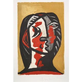 """""""Femme en Gris et Rouge"""" by Pablo Picasso"""