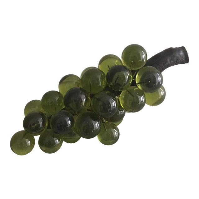 Oversized Green Lucite Grapes - Image 1 of 4