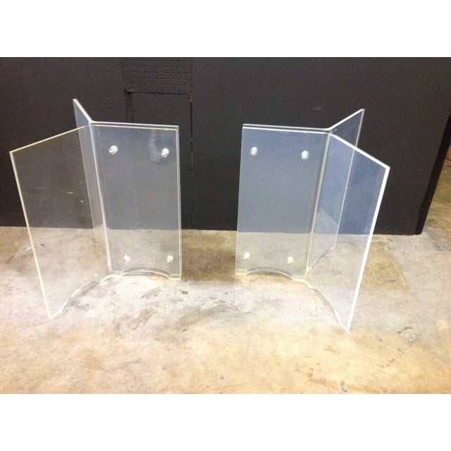 Vintage Lucite Table Bases - A Pair - Image 2 of 8