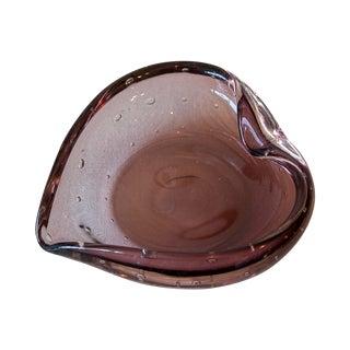 Vintage Murano Glass Heart Bowl