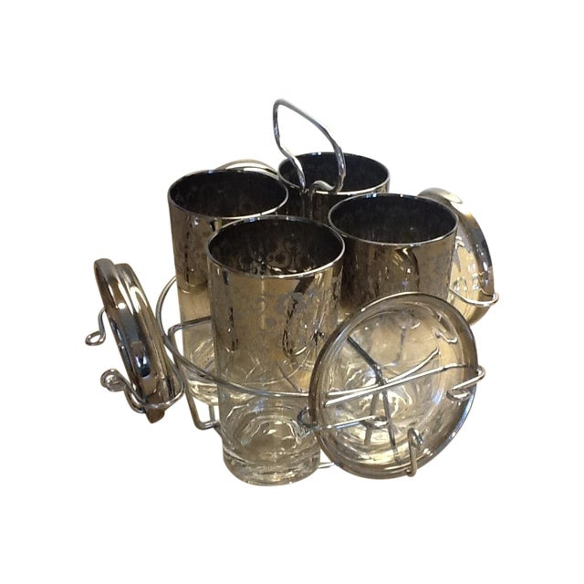 Chrome Caddy Silver Ombre Glasses & Coasters Set - Image 1 of 7