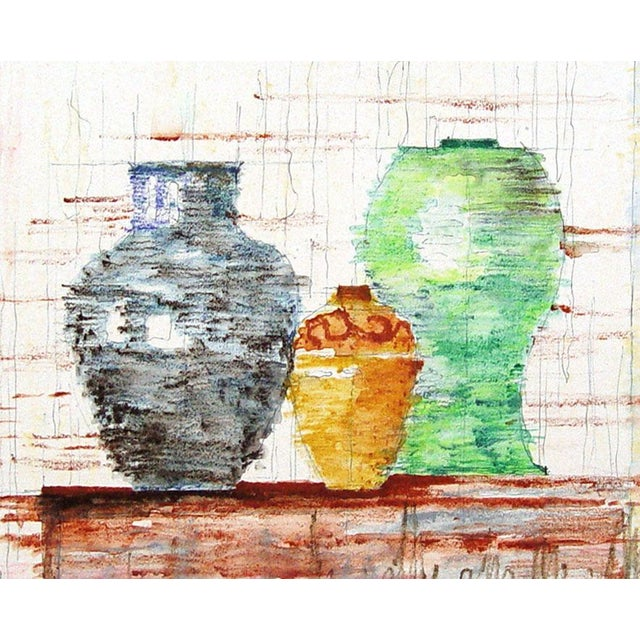 Modernist Still Life of Pottery - Image 1 of 2