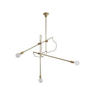 Modern Workstead Brass Chandelier