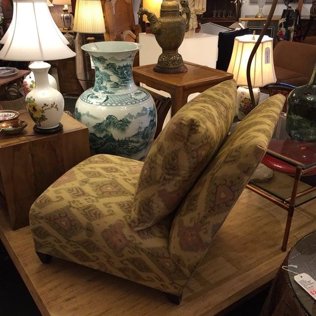 Donghia Villa Custom Ikat Chair - Image 8 of 11
