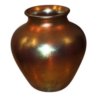 Vintage Steuben Gold Aurene Vase, Circa 1930's