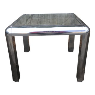 Mid-Century Chrome & Glass Side Table