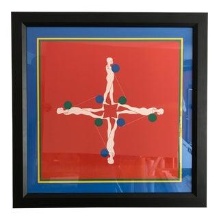 Ernest Trova Framed Silk Screen Poster