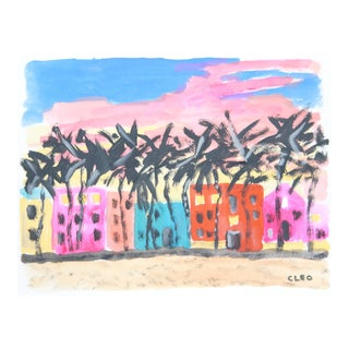 Miami Beach Abstract Painting by Cleo
