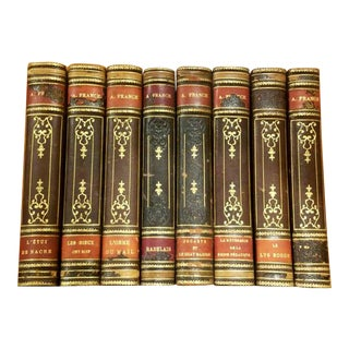 Antique French Books - Set of 8