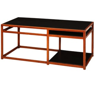 Walnut and Black Laminate Console by Edward Wormley