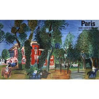 "Raoul Dufy ""Paddock Deauville"" 1960 Mourlot Lithograph"