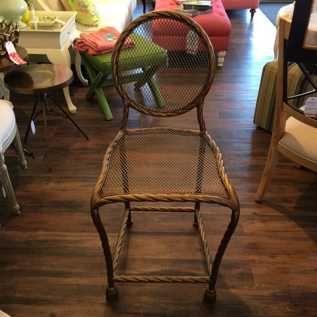 Image of Lilly Pulitzer Rope Counter Stools - Pair