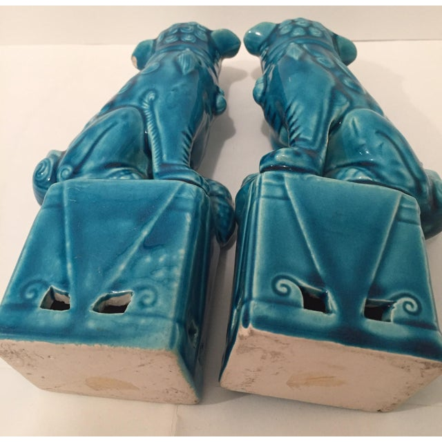 Turquoise Vintage Foo Dogs - A Pair - Image 9 of 9