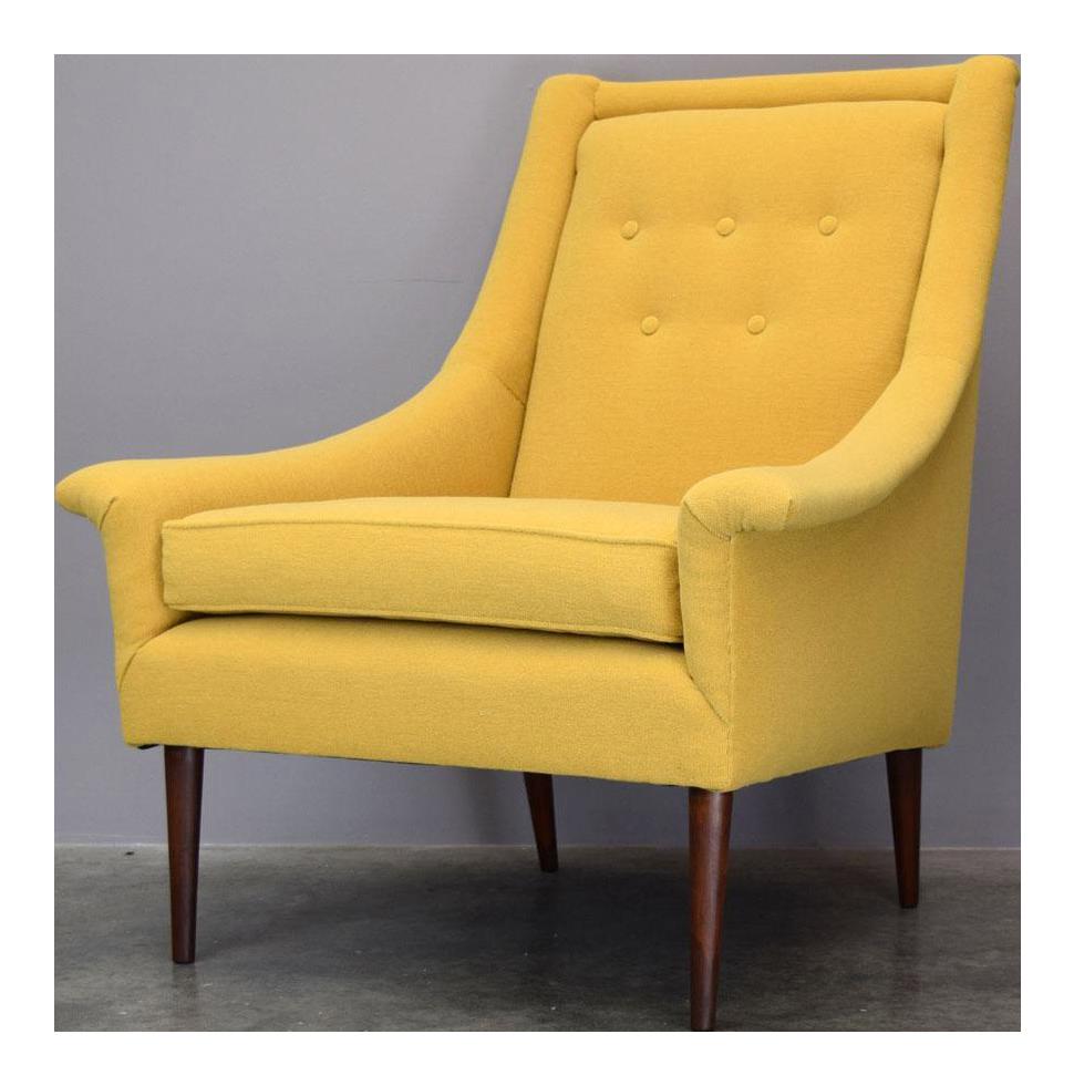 Refurbished Mid Century Lounge Chair In Maharam Kvadrat Voyage