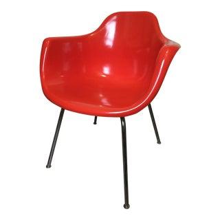 Mid-Century Red Fiberglass Armchair