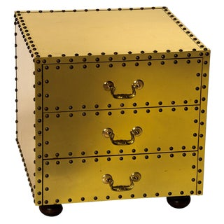 Three Drawer Brass Chest of Drawers