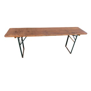 Vintage German Beer Garden Rustic Console Table