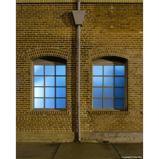 Arched Windows - Night Photograph by John Vias