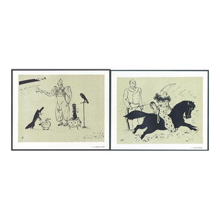 1944 'Circus: # 7 & 41' Lithographs - A Pair
