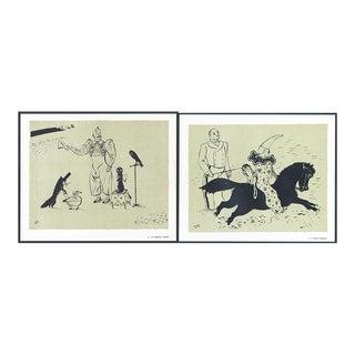 1944 'Circus: # 7 & 41' Lithographs - A Pair