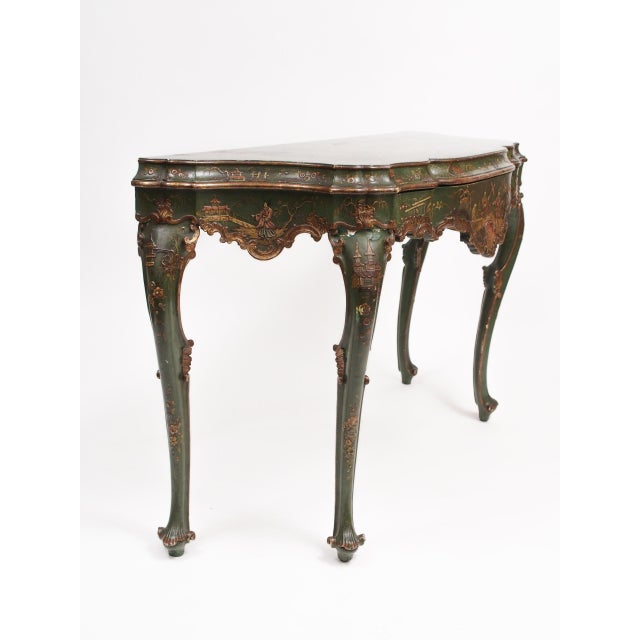 Chinoiserie Decorated Console Table with a Drawer - Image 5 of 11