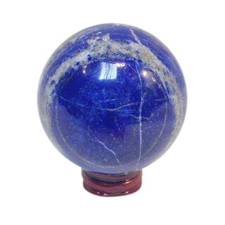 Lapis Lazuli Blue Sphere on Stand