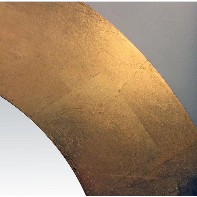 Round Gold Leaf Framed Mirror - Image 3 of 5