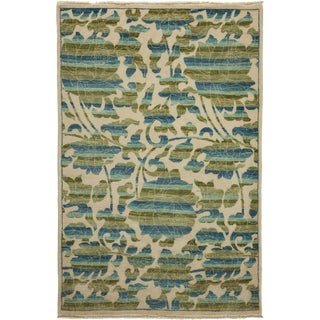 "New Arts & Crafts Hand Knotted Area Rug - 4'2"" x 6'3"""