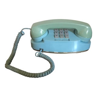 Vintage Turquoise Princess Push Button Phone
