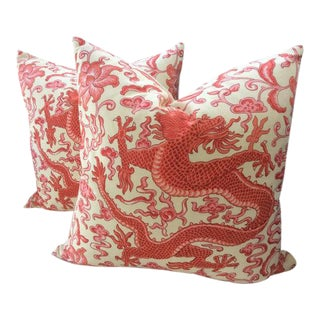 Scalamandre Pillow Covers in Chien Dragon - a Pair