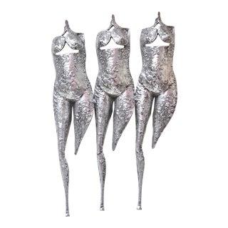 Three Muses Torso Wall Sculpture
