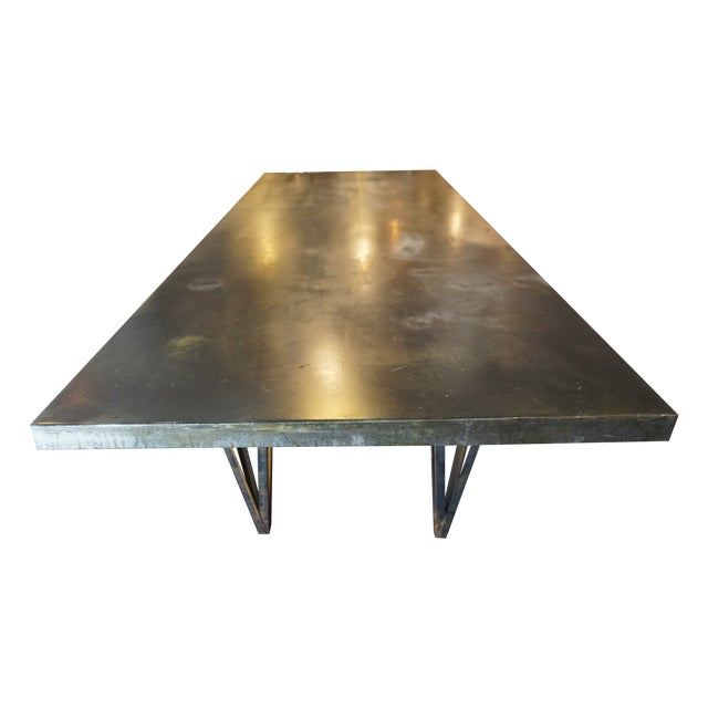 Large Zinc Dining Table - Image 1 of 4
