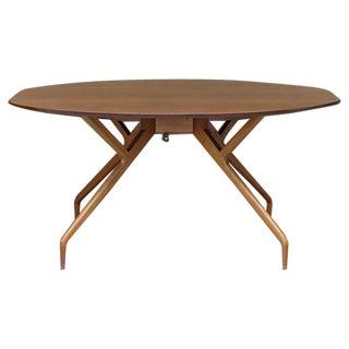 Greta Grossman Drop Leaf Walnut Dining Table
