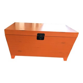 Orange Trunk Coffee Table