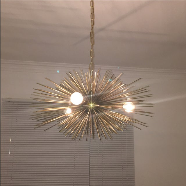 Mini Urchin Brass Chandelier - Image 2 of 4