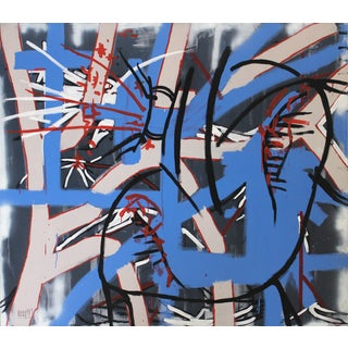 Abstract Graffiti Painting by Lionel Lamy