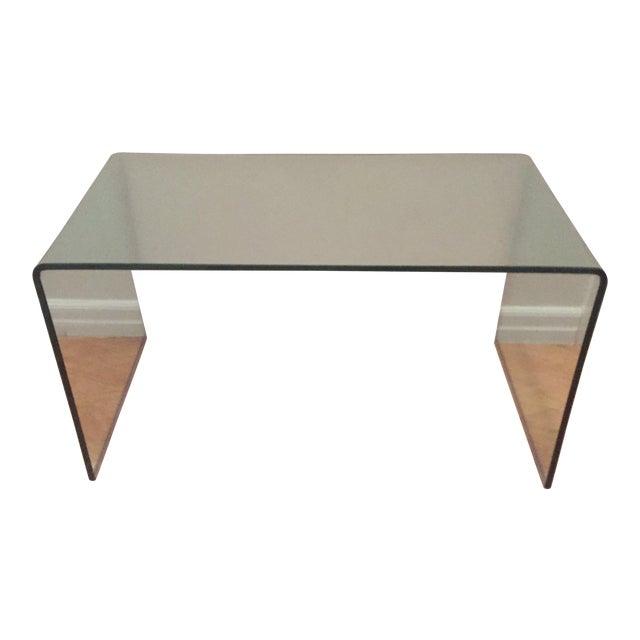 Modern Glass Waterfall Coffee Table - Image 1 of 3