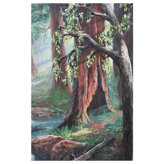 Redwood Trees Painting - Image 2 of 2