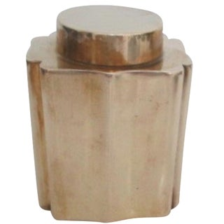 Antique Brass Canister