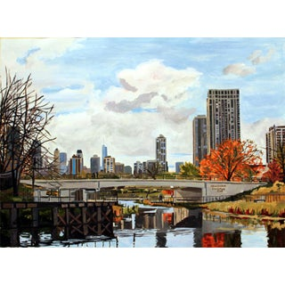 """Josh Moulton """"Lincoln Park Zoo Bridge"""" Giclee Print After a Painting"""
