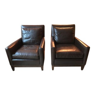 Arhaus Dante Leather Chairs - A Pair