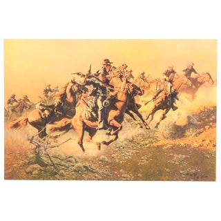 """Under Hostile Fire"" Lithograph by Frank C. McCarthy"