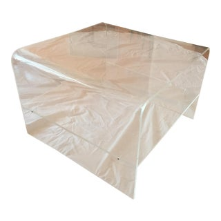 Transparent Lucite Side Table