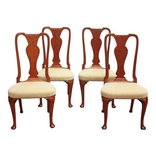 Set of Georgian Chairs with Urn Form Splats / Queen Anne Style