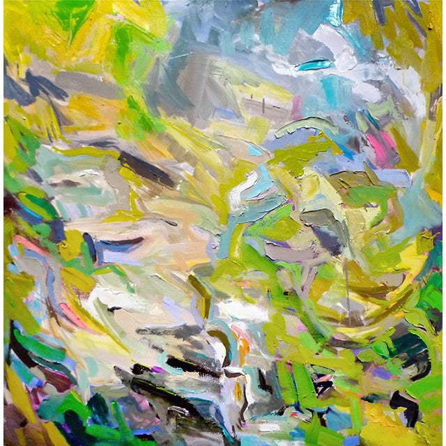 "Large Abstract by Trixie Pitts ""Mountain Stream"" - Image 1 of 4"