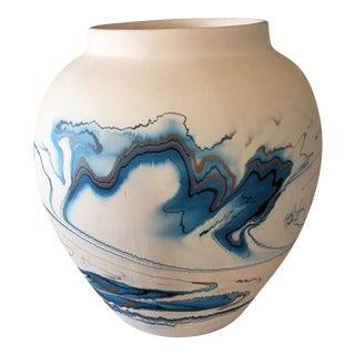 Nemadji Pottery Blue Vase