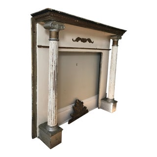 Neo Classical Wooden Marble Top Fireplace Mantel