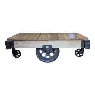 Restoration Hardware Furniture Factory Cart Coffee Table