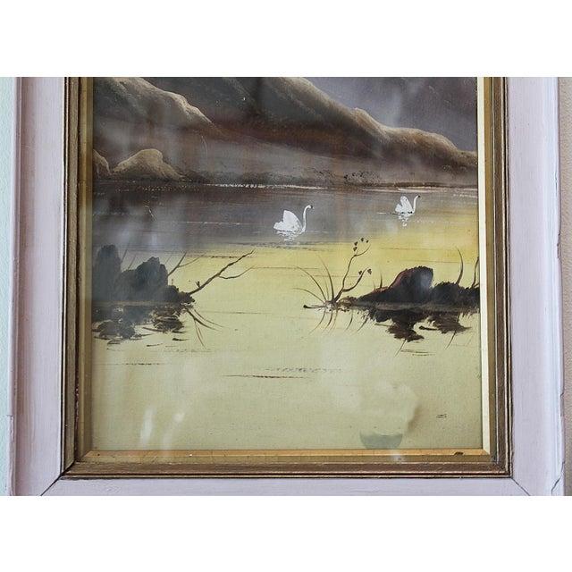 Asian Pastel Lake Scene - Image 4 of 4