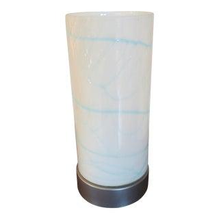 Art Glass Hurricane Accent Lamp